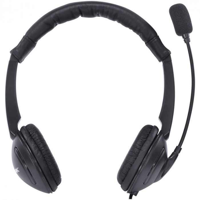 FONE HEADSET CORP USB COM MICROFONE - PRETO - VK390
