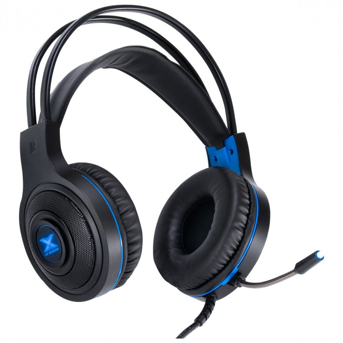 FONE HEADSET GAMER VX GAMING LUGH LED AZUL USB COM MICROFONE FLEXIVEL - GH300