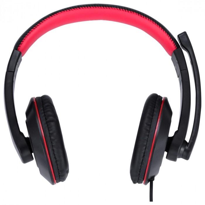 FONE HEADSET GAMER VX GAMING V BLADE II USB COM MICROFONE RETRATIL E AJUSTE DE HASTE PRETO COM VERMELHO - GH200