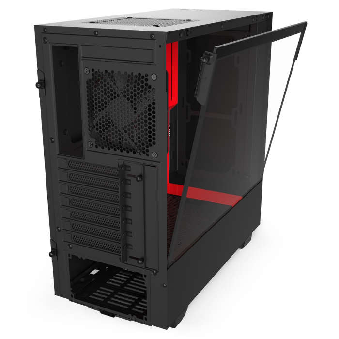 GABINETE ATX MID-TOWER - H510 BLACK/RED - LATERAL COM VIDRO TEMPERADO - CA-H510B-BR