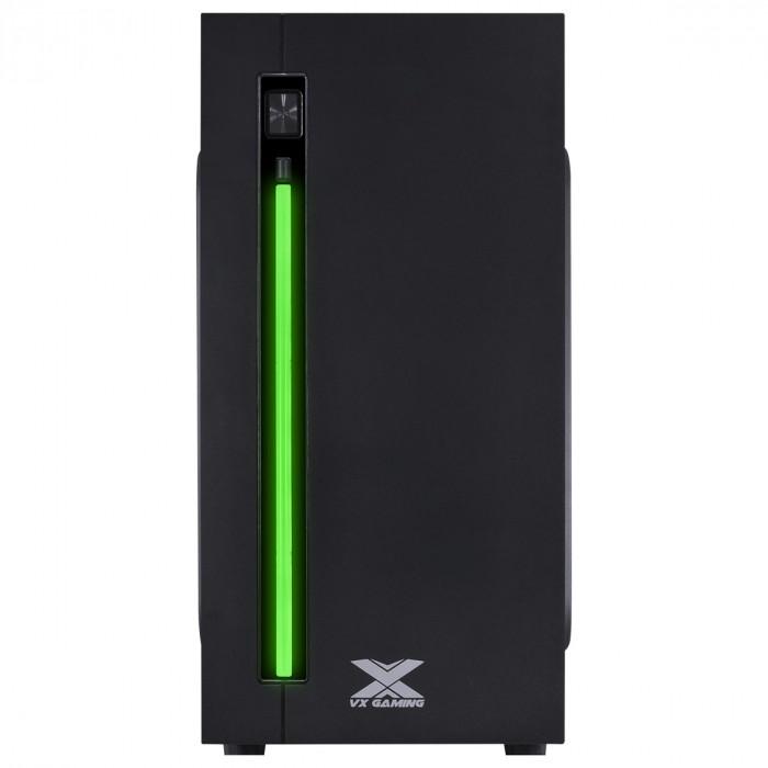 GABINETE GAMER VX GAMING AUSTRALIS PRETO FRONTAL COM FITA LED RGB