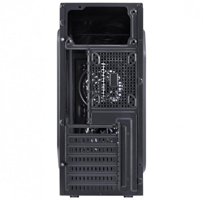 GABINETE GAMER VX GAMING CRATER COM JANELA ACRILICA PRETO COM 2 X FAN FRONTAL 120MM 15 PONTOS DE LED VERMELHO
