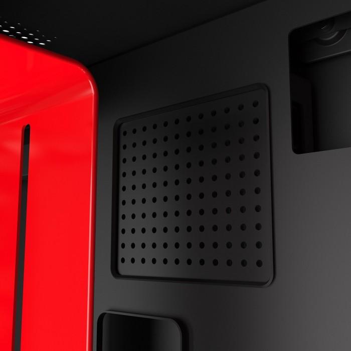 GABINETE H210I MATTE BLACK/RED - CA-H210I-BR