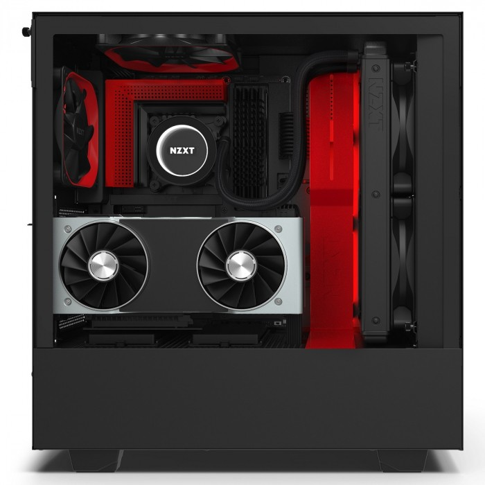 GABINETE H510I MATTE BLACK/RED - CA-H510I-BR