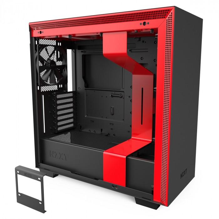 GABINETE H710 MATTE BLACK/RED - CA-H710B-BR