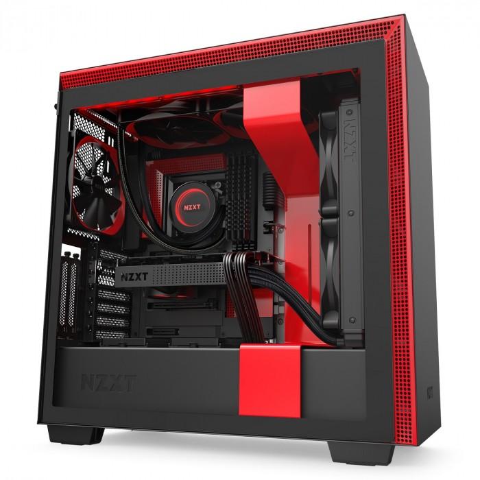 GABINETE H710I MATTE BLACK/RED - CA-H710I-BR