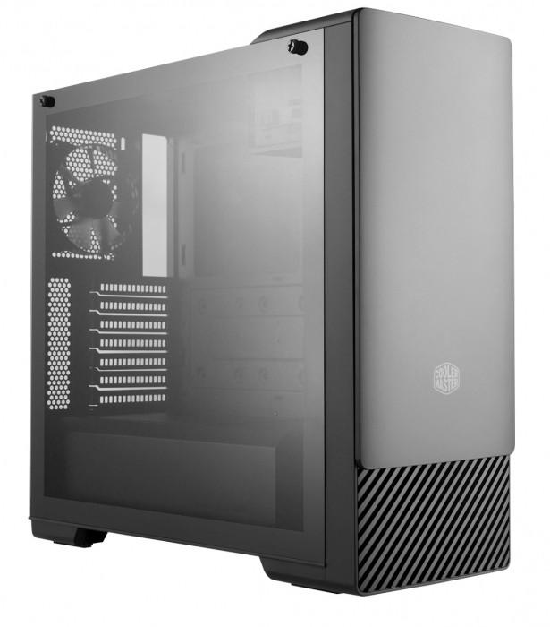 GABINETE MASTERBOX E500 MIDTOWER PAINEL DESLIZANTE SEM ODD PRETO - MCB-E500-KGNN-S00