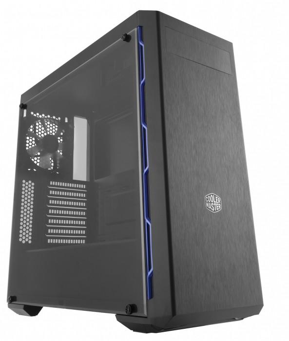 GABINETE MASTERBOX MB600L - COM ODD - BORDA BLUE - MCB-B600L-KA5N-S01