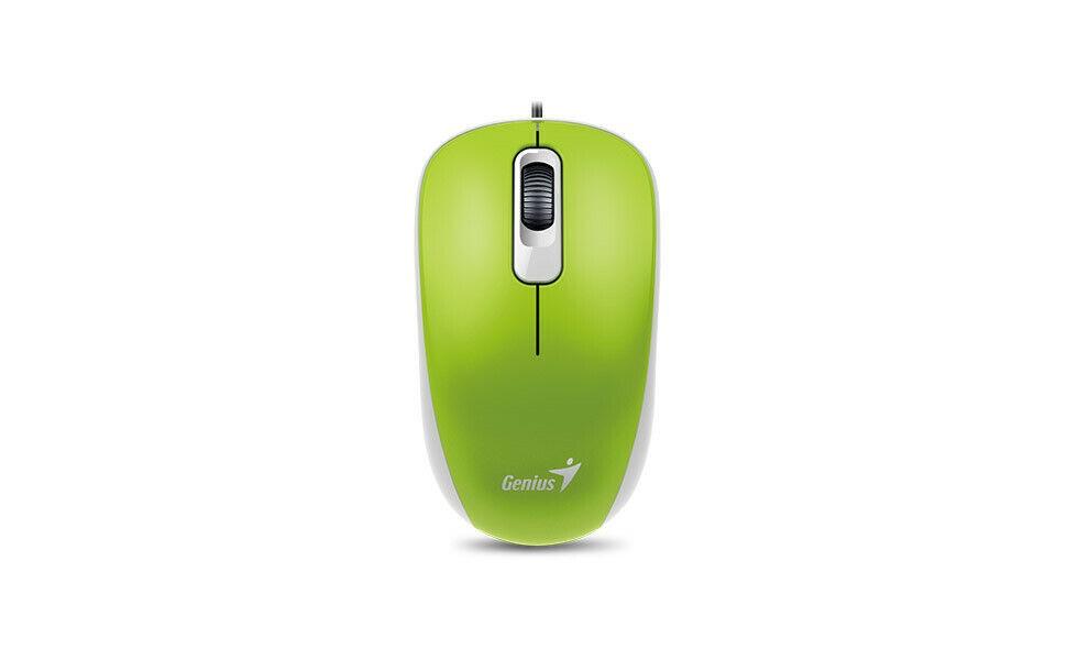 Mouse Óptico Genius DX-110 Verde  Usb Com Fio confortável 1000DPI