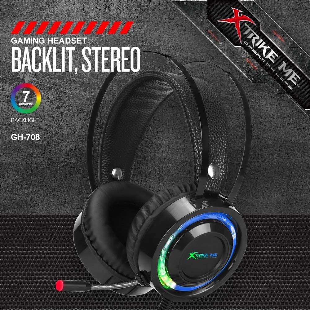 HEADSET COM FIO XTRIKE ME GH 708 FONE DE OUVIDO COM FIO MARCA XTRIKE MODELO GH 708