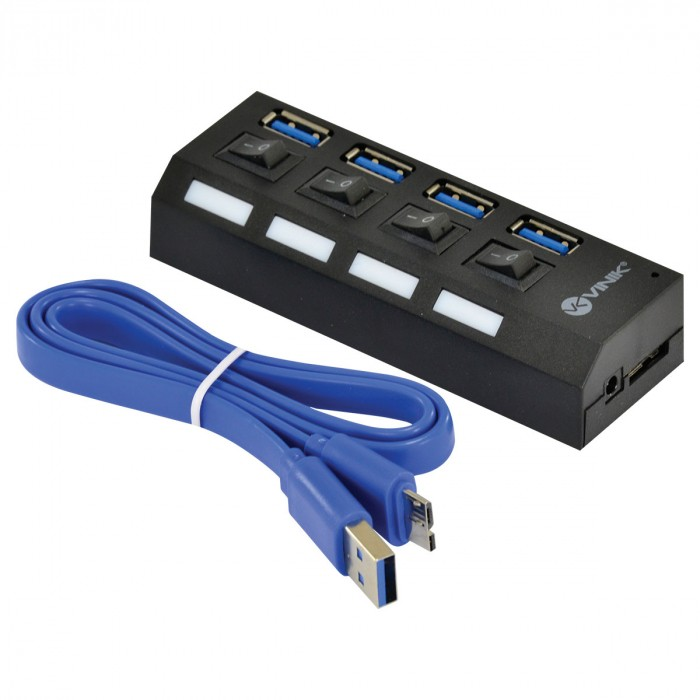 HUB USB 3.0 4 PORTAS COM INTERRUPTOR HUV-50