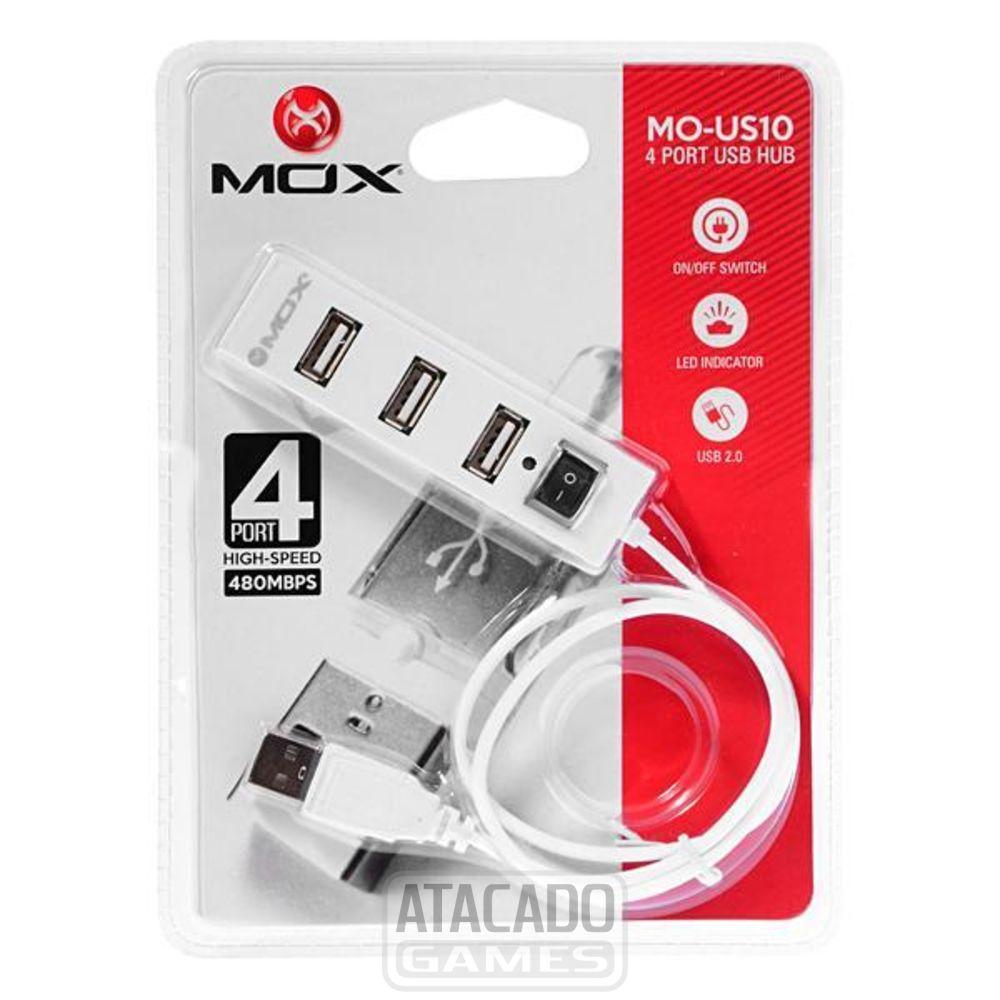 HUB USB MOX MO-US10 4 PORTAS HIGH SPEED BRANCO