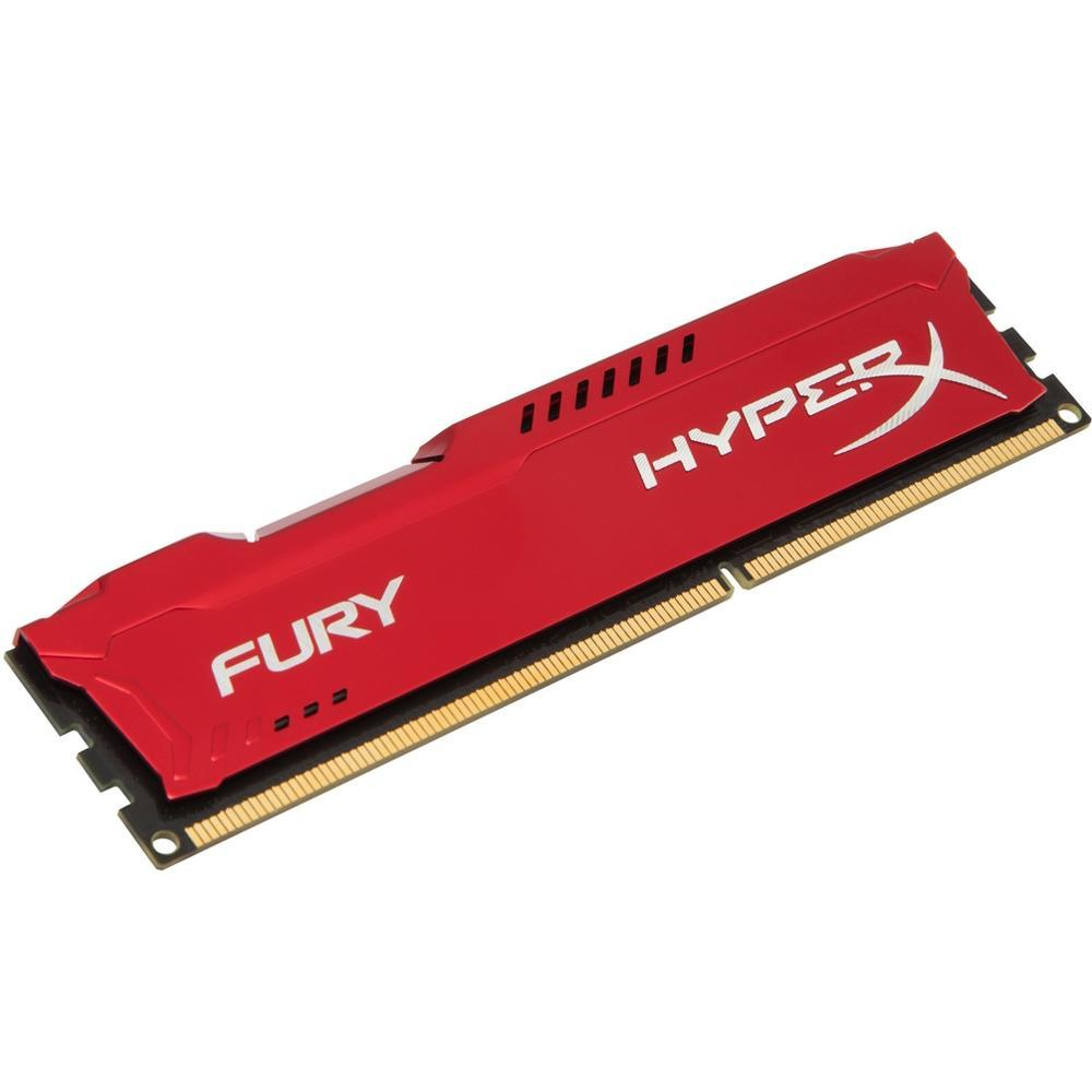Memória HyperX Fury, 4GB, 1866MHz, DDR3, CL10, Vermelho - HX318C10FR/4