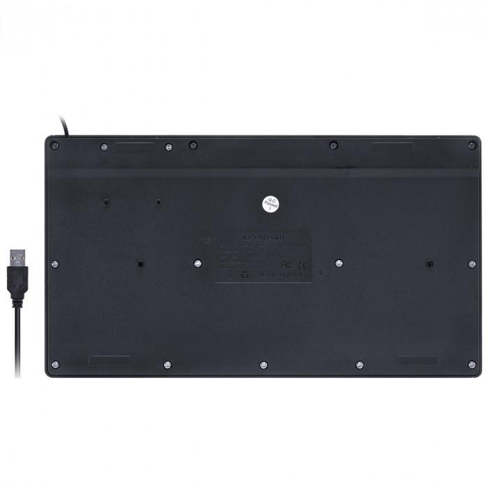 MINI TECLADO USB CHOCOLATE MULTIMIDIA DYNAMIC FLAT ABNT2 1.8M PRETO - DT110