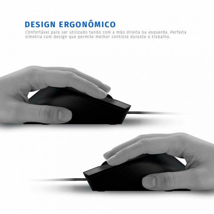 Mouse Com Fio USB Óptico 1000DPI Philips - M104 / SPK7104