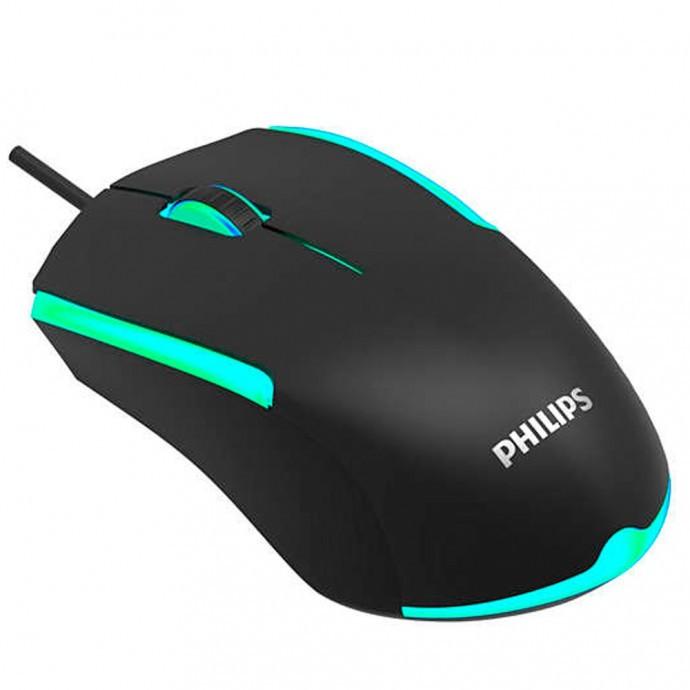 Mouse Gamer com fio 1200DPI 3 Botões Philips - G314 / SPK9314