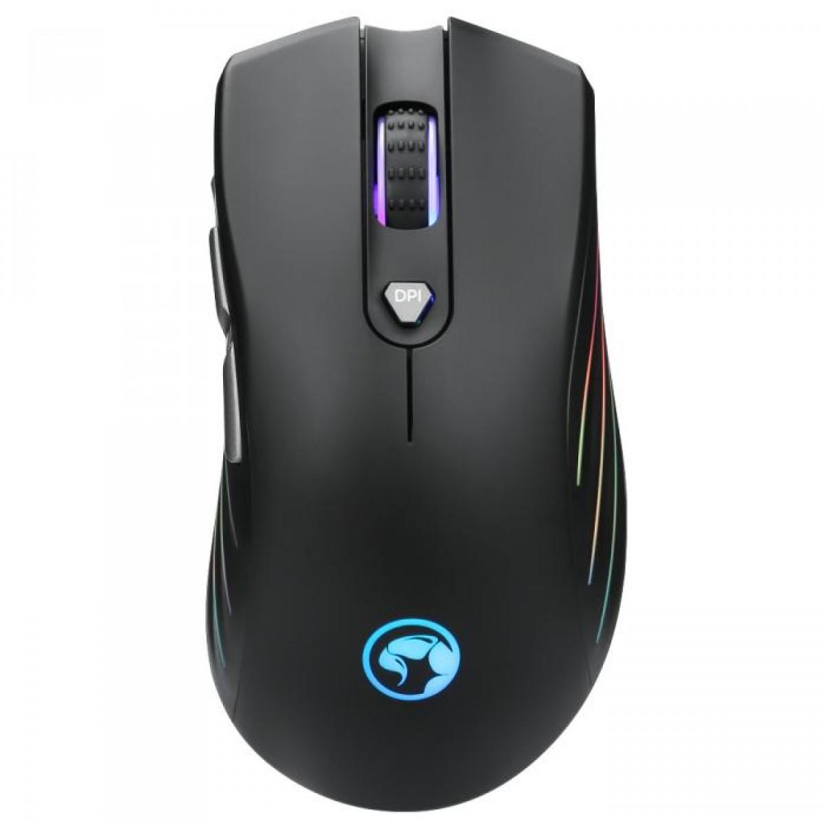 Mouse Gamer Marvo G813, 7200 DPI 7 Botões Led RGB Rainbow