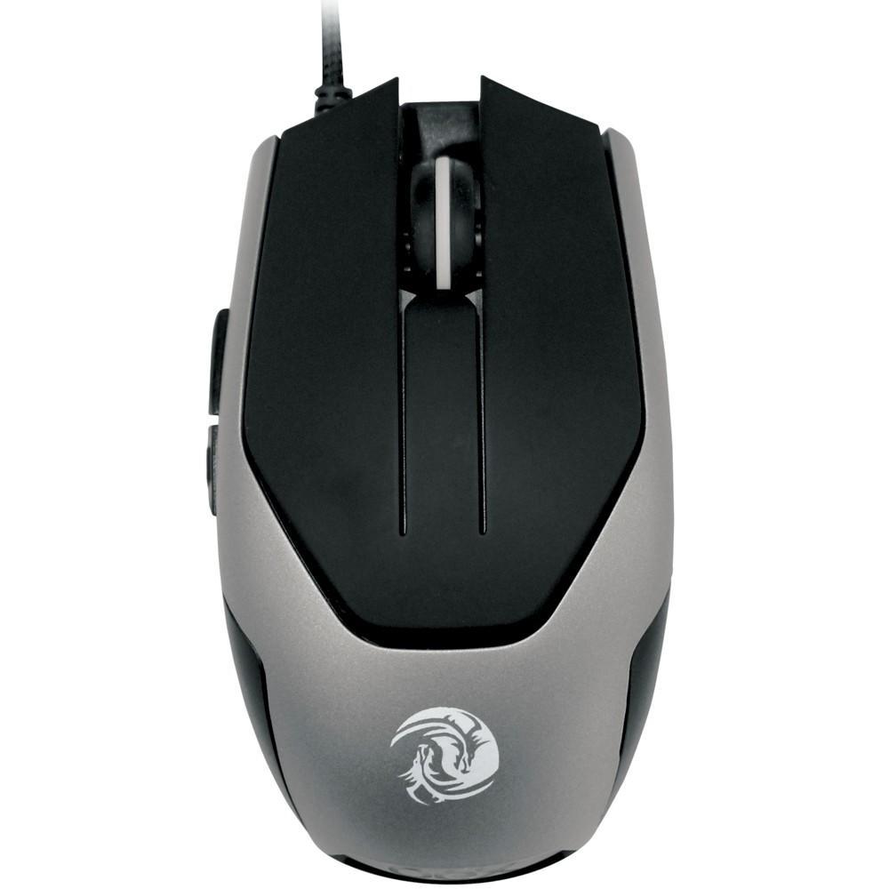 Mouse gamer OEX Game Blaze 3200dpi Preto e Cinza - MS311