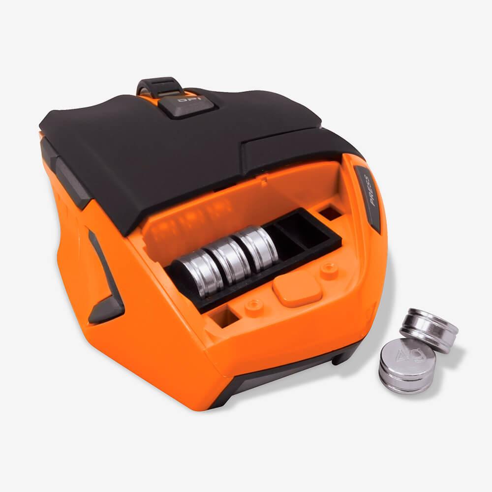 Mouse Gamer Oex Hunter Ms303 9 Botões Macro, Ajuste de Peso, 3200 Dpi