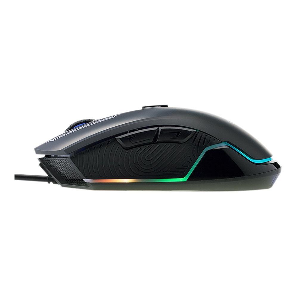MOUSE GAMER USB G360 PIXART P3327 6200DPI LED RGB PRETO