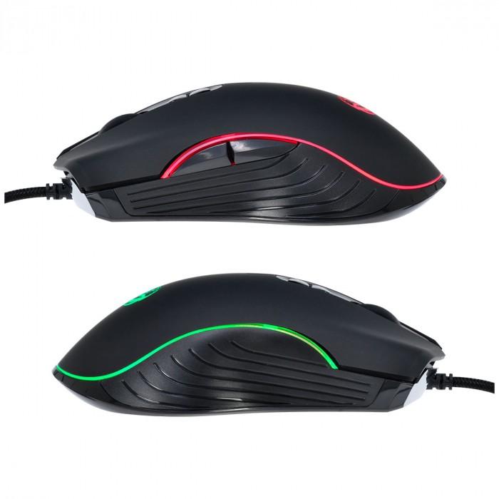 MOUSE GAMER USB MA7 4000 DPI SENSOR AVAGO 3050 LED 7 CORES 1.8 METROS