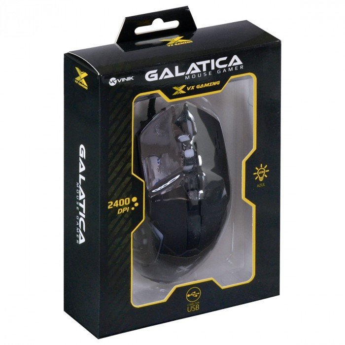 MOUSE GAMER VX GAMING GALATICA 2400 DPI LED AZUL