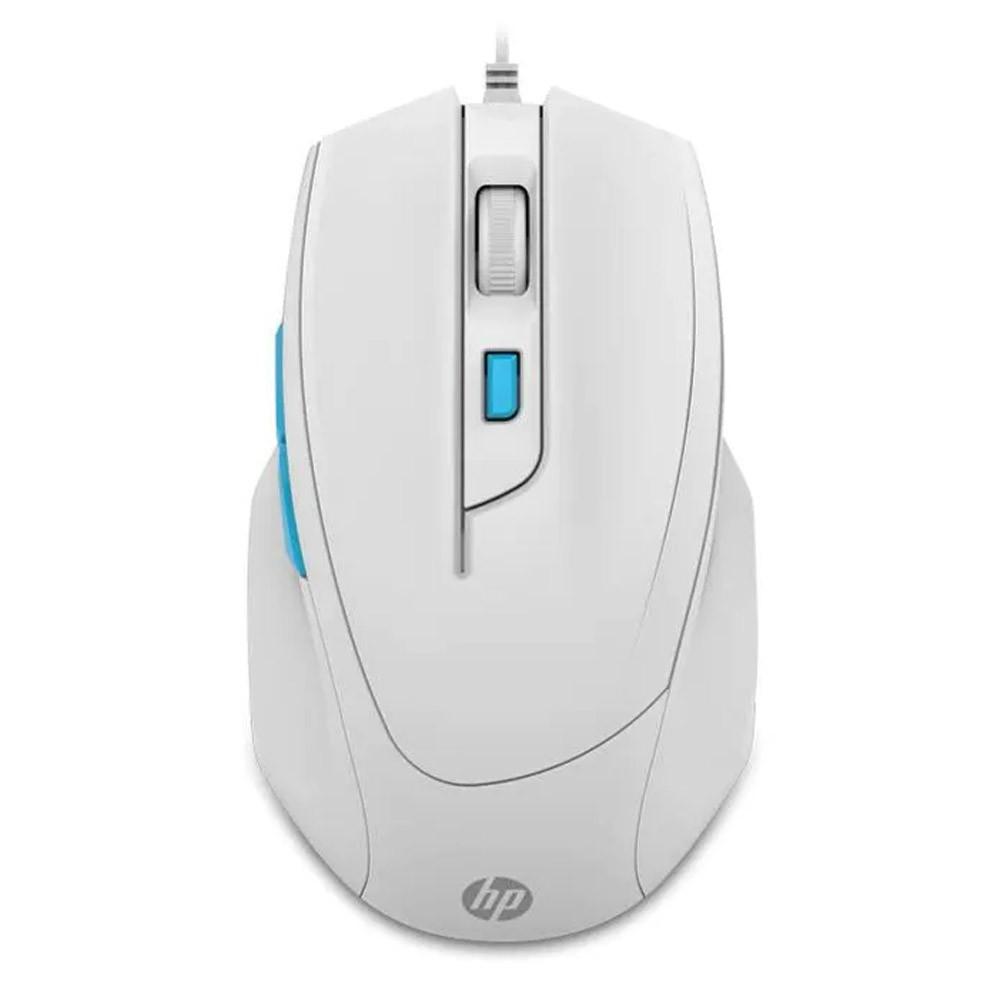 Mouse Gaming HP m150 USB 1000 1600 DPI Branco