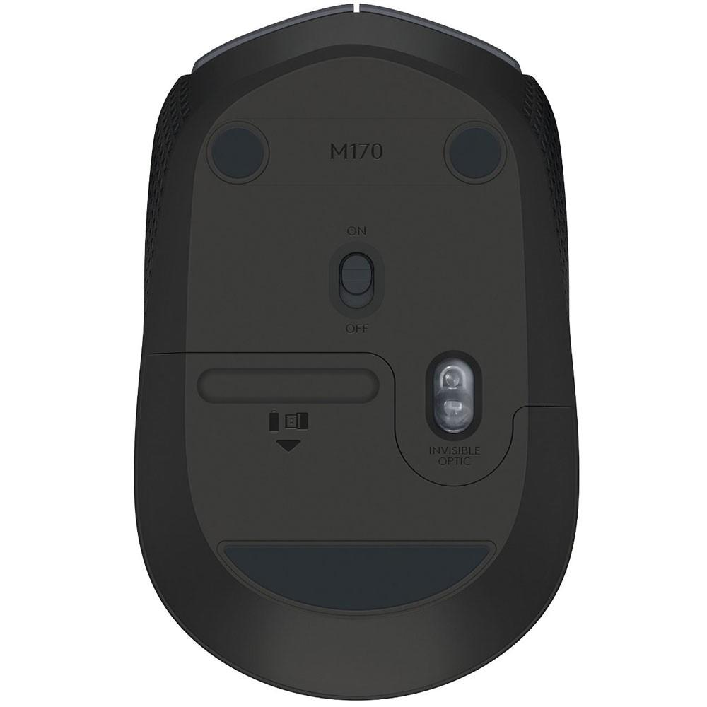 Mouse Logitech M170 Sem Fio Vermelho e Preto