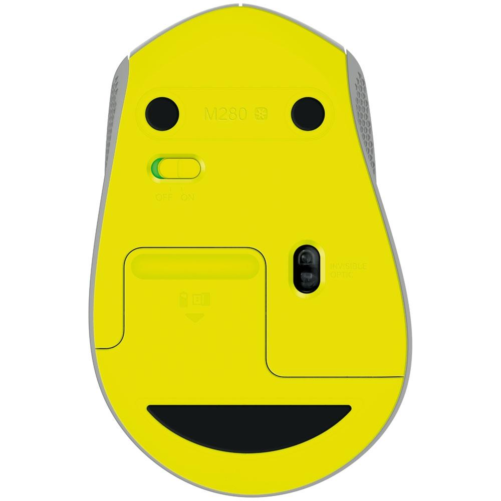 Mouse Logitech M280 Sem Fio Cinza 1000DPI