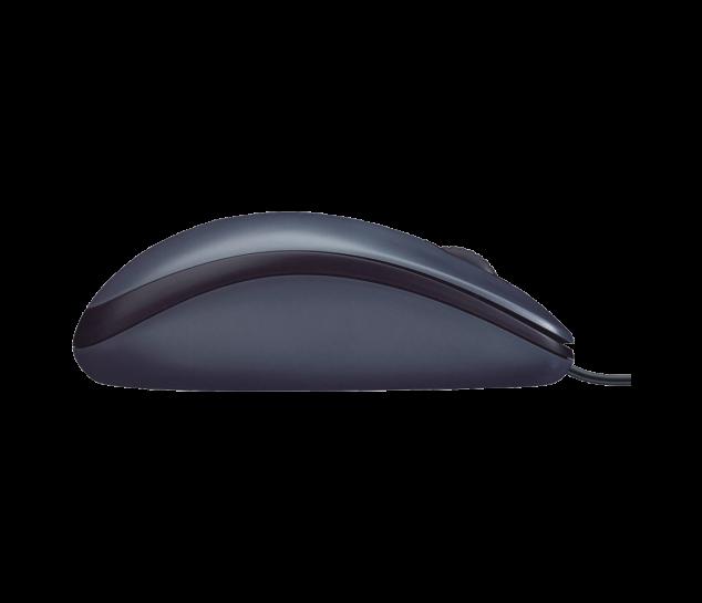 Mouse Óptico Logitech M100 USB 1.000 DPI - Cinza