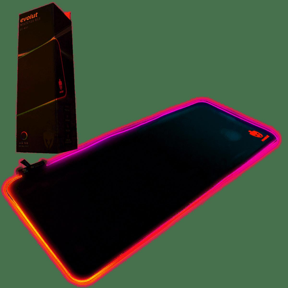 MOUSE PAD GAMER EVOLUT EG-411 LED RGB 700X300X3MM