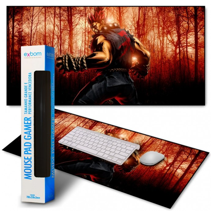 Mouse Pad Gamer Street Fighter Extra Grande Exbom - MP-9040A04