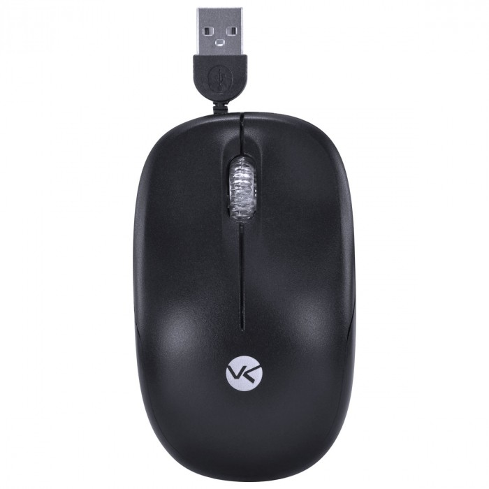 MOUSE RETRATIL DYNAMIC 1200DPI CABO USB 0.5M PRETO - DM140