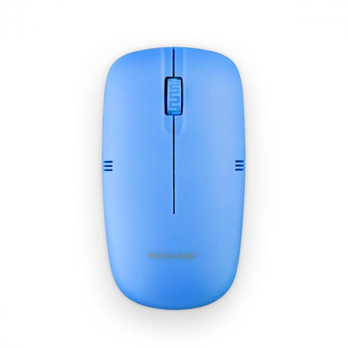 MOUSE SEM FIO LITE 2.4GHZ 1200 DPI USB AZUL MO288