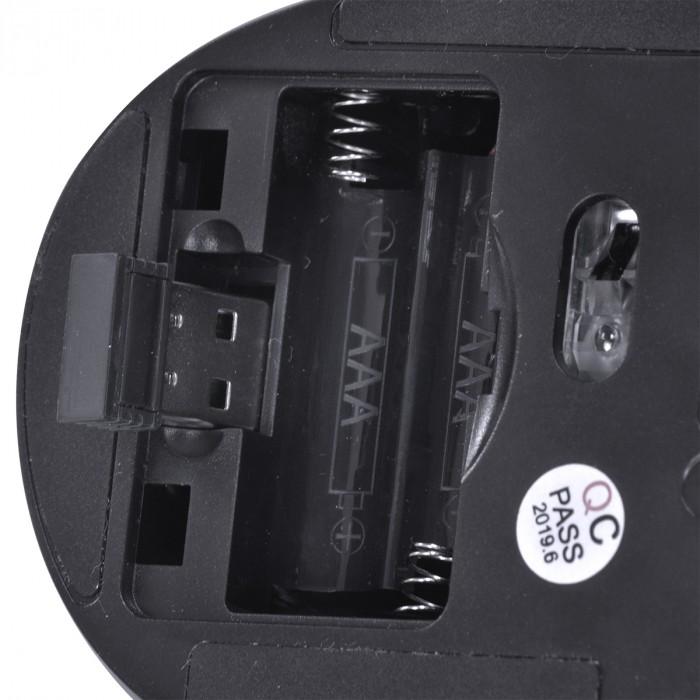 MOUSE SEM FIO WIRELESS 2.4 GHZ SILENCIOSO SILENT ERGO 1600 DPI PRETO USB - SM300