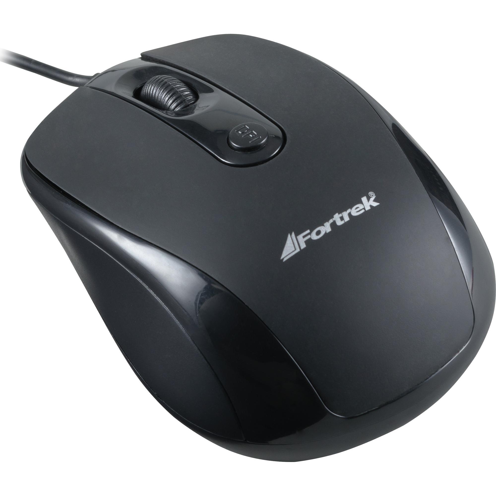 Mouse USB 1600dpi OM-103BK Preto FORTREK