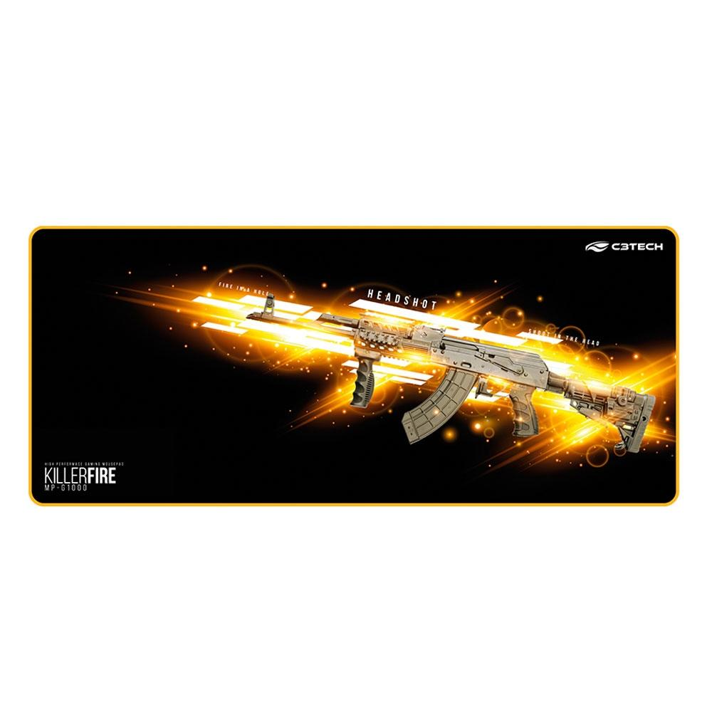 Mousepad Gamer C3 Tech Killer Fire Control Extra Grande (700x300mm) - MP-G1000