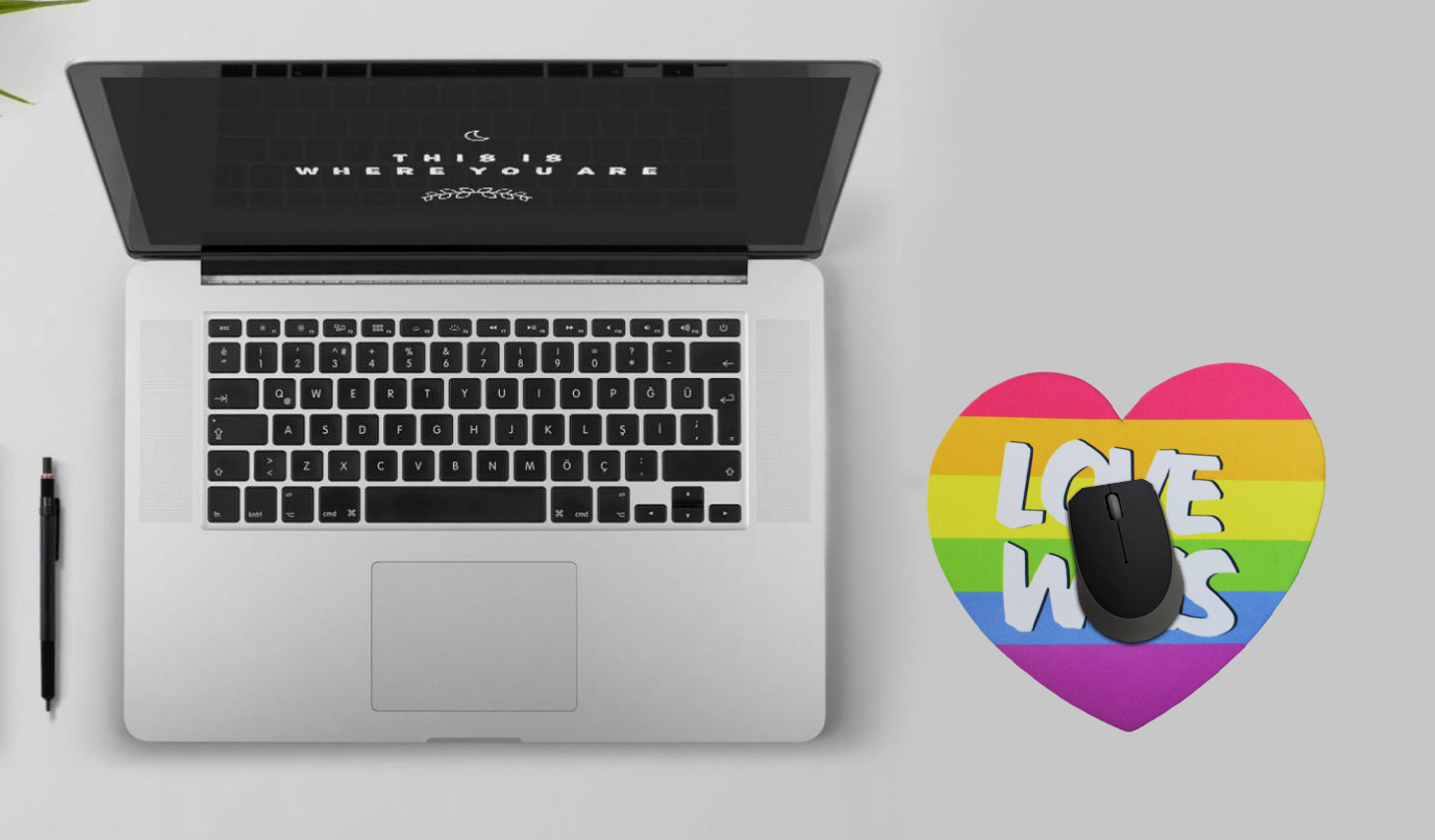 Mousepad / Imã Decorativo ColorFun – Love Wins