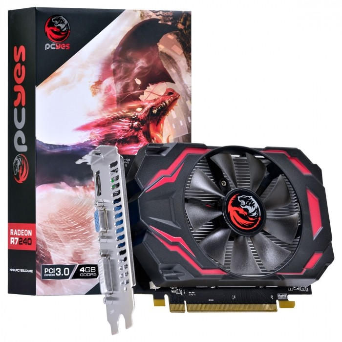 PLACA DE VIDEO AMD RADEON R7 240 4GB GDDR5 128 BITS GAMING EDITION - PJ240R71284GD5