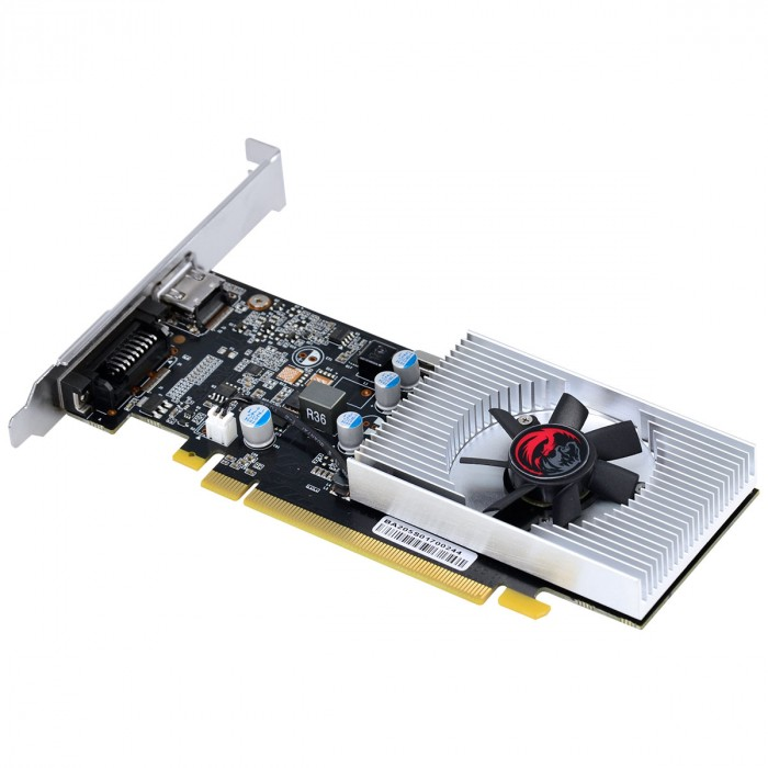 PLACA DE VIDEO NVIDIA GEFORCE GT 1030 2GB GDDR5 64 BITS COM KIT LOW PROFILE SINGLE FAN - PP10302048DR564
