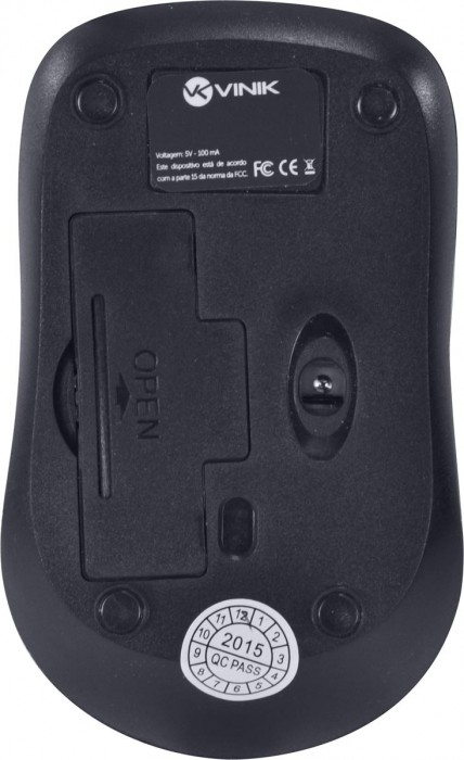 MOUSE OPTICO SEM FIO W600 1000 DPI COM NANO RECEPTOR USB - PRETO
