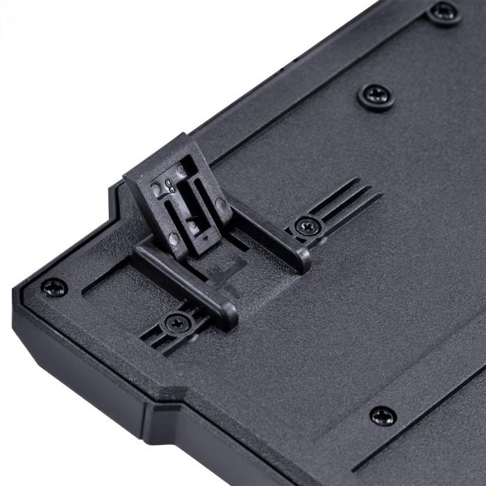 TECLADO E MOUSE GAMER VX GAMING GRIFO - MOUSE 2400 DPI CABO USB 1.8 METROS LED VERMELHO - VGC-01V