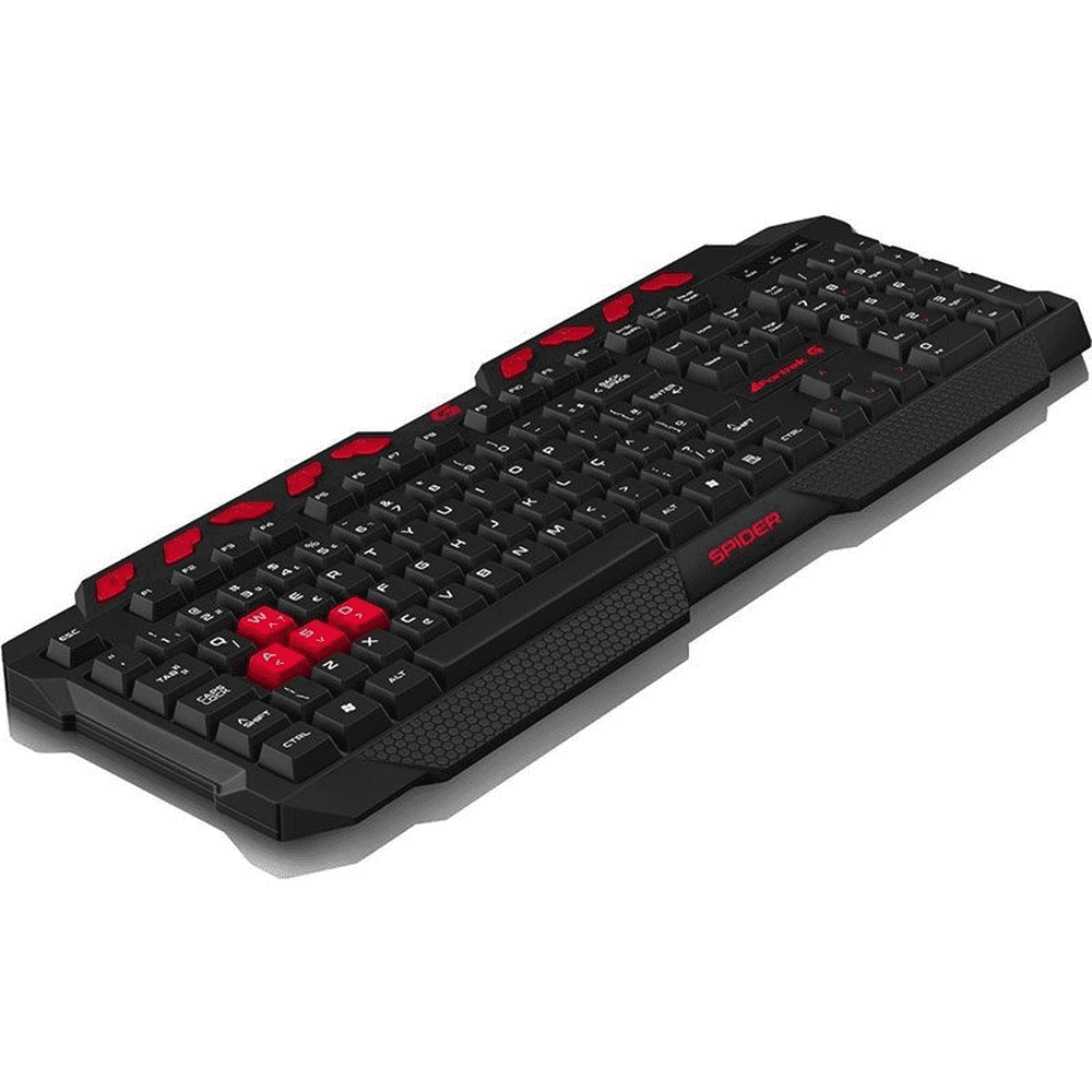 Teclado Gamer Spider GK706 Preto/Vermelho FORTREK