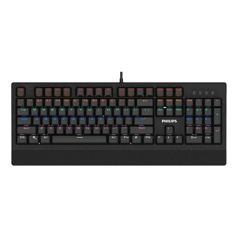 Teclado Mecanico Gamer Usb Led Rgb Luminoso Philips Spk8403