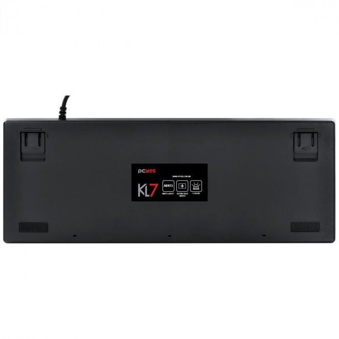 TECLADO MECANICO USB KL7 OUTEMU BLUE ABNT2 LED 7 CORES 1.8 METROS