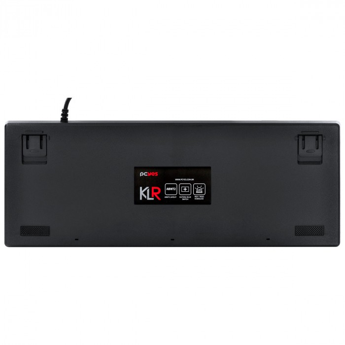 TECLADO MECANICO USB KLR OUTEMU BLUE ABNT2 LED VERMELHO 1.8 METROS