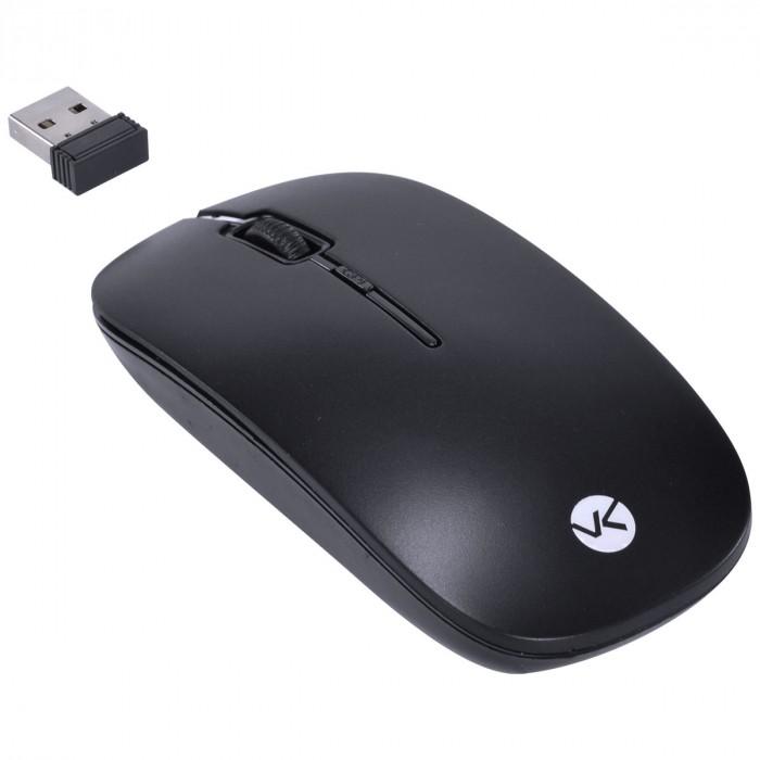 TECLADO MINI E MOUSE SEM FIO DYNAMIC FLAT ABNT2/1200DPI PRETO USB - DC110