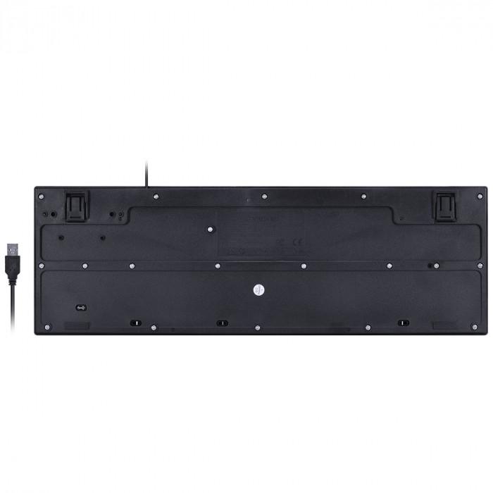 TECLADO MULTIMIDIA USB SLIM DYNAMIC 116 TECLAS ABNT2 RESISTENTE A AGUA 1.8M PT - DT130