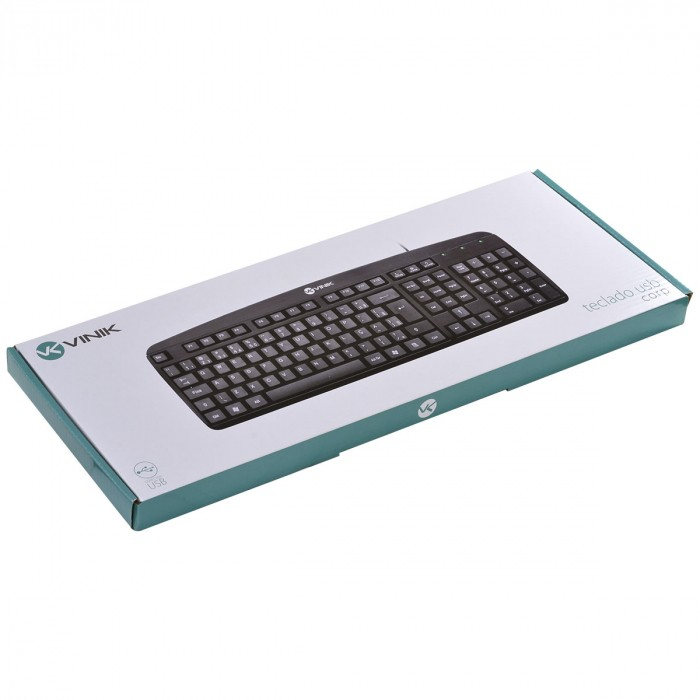 TECLADO USB CORP ABNT2 CABO 1.8 METROS 110 TECLAS PRETO - CT300