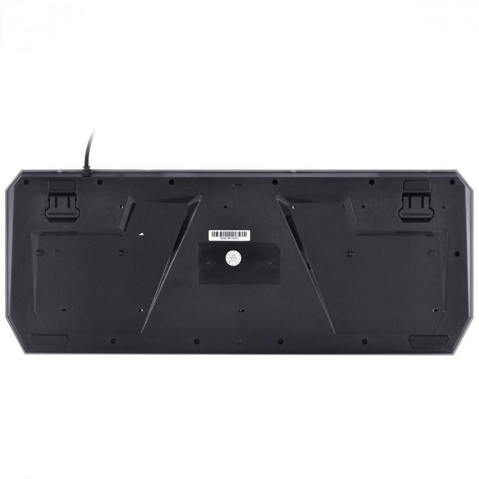 TECLADO USB GAMER VX GAMING DRACO COM MACROS, MULTIMIDIA LED 3 CORES CABO 1.8 METROS ABNT2 PRETO - GT400
